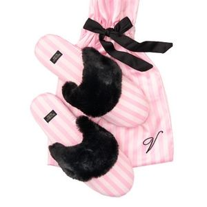VICTORIA'S SECRET Signature Satin Slippers 7-8